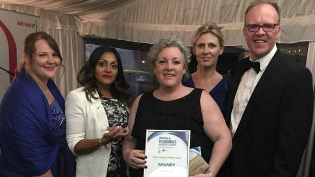 Home Instead Wins at the Suffolk Business Awards 2018