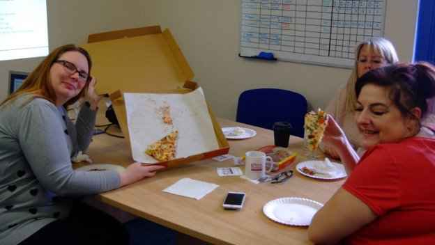 CAREGivers celebrate National Pizza Day
