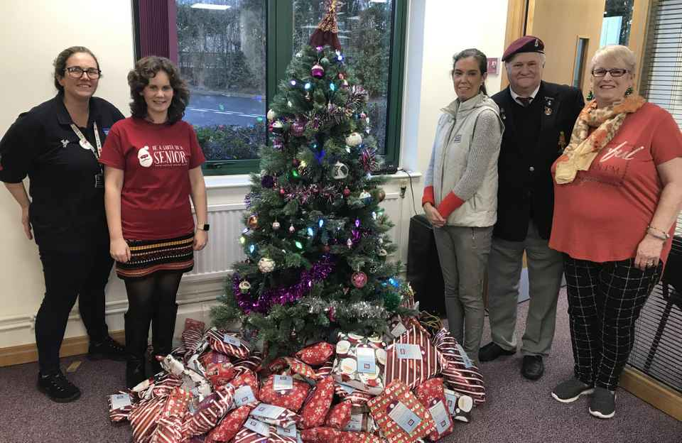 British Legion collecting gifts