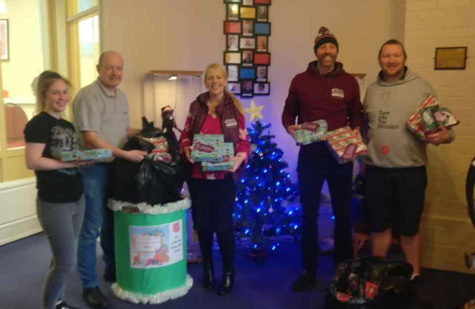 Donating gifts to the Samaritans