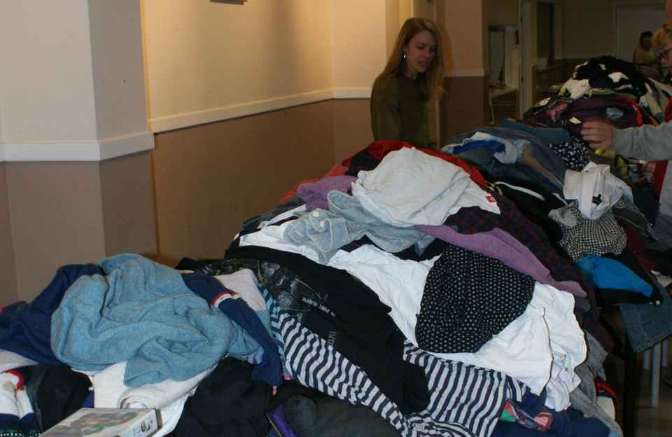 Basingstoke Jumble Sale Clothes Stall