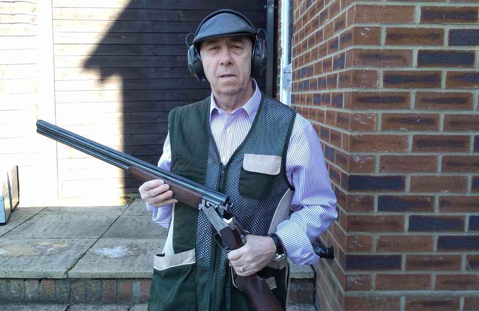Steve in his shooting gear