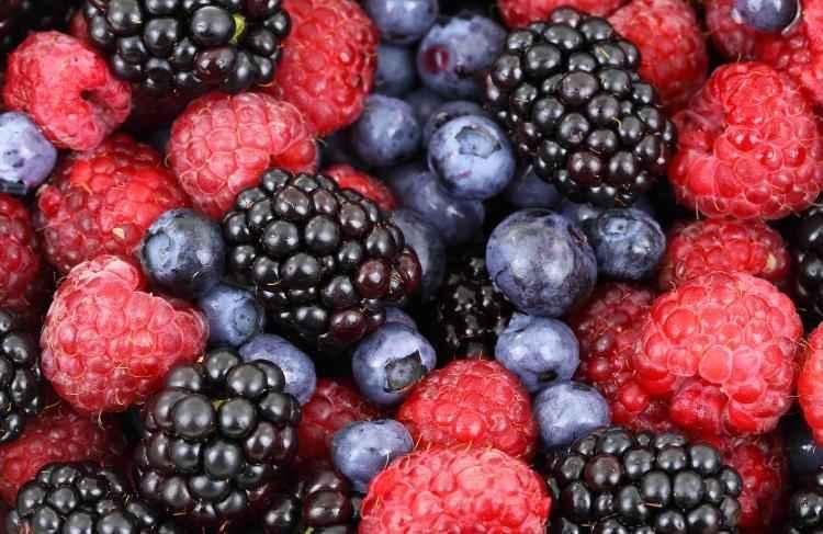 healthy berries full of vitamin C for seniors