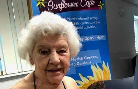 Margaret at the Sunflower Cafe