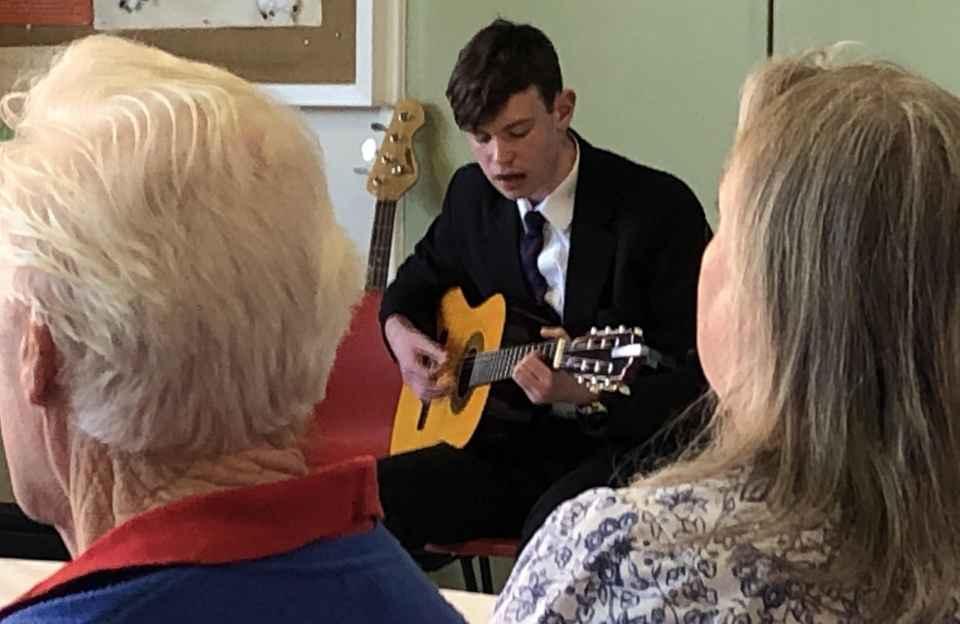 Shrewsbury Academy Pupiil Guitar