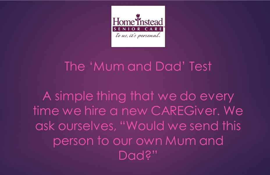 The Mum and Dad Test