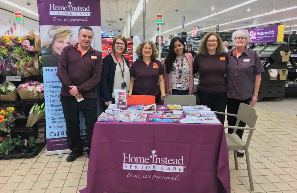 Home Instead Senior Care celebrating Carers Week at Sainsbury's