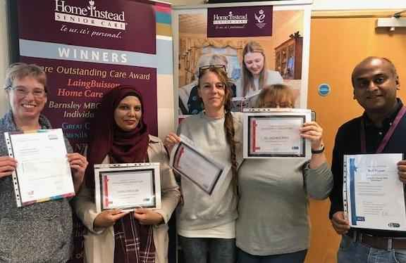 Proud CAREGivers with their certificates