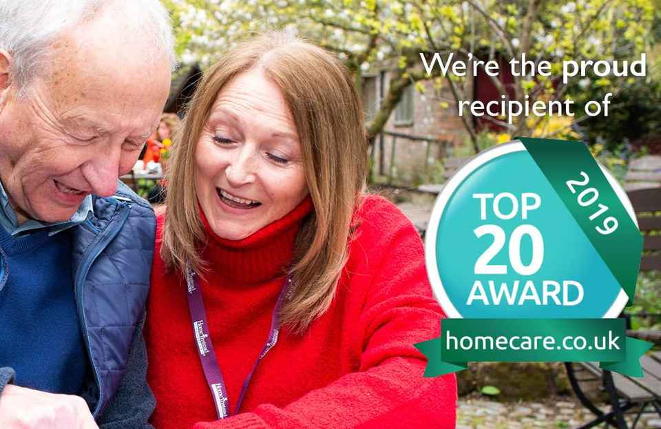 Care in your own home - top 20 award winner Market Harborough, Corby & Rutland