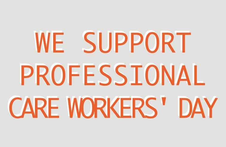 Professional Care Workers' Day Support Image