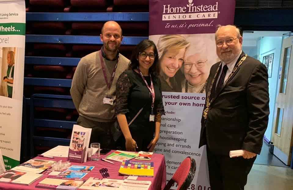 Home Instead Senior Care Cuffley, Cheshunt & Harlow with the Mayor of Hertsmere Alan Plancey