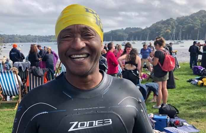 Homeinstead   completes the 10km River Dart swim