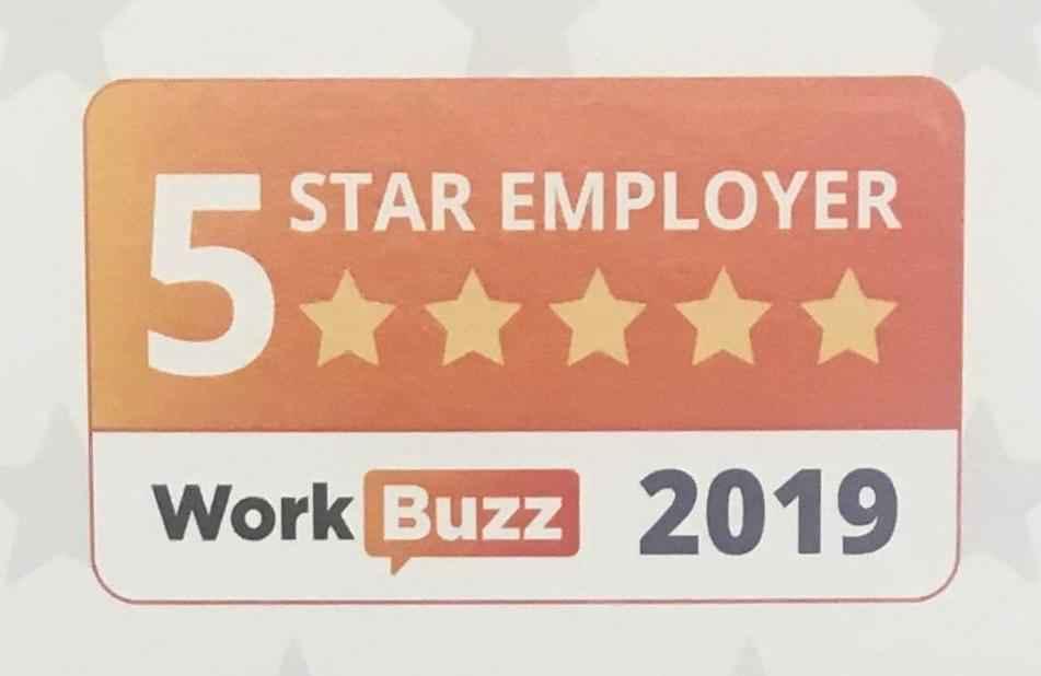 5 Star Employer Award 2019