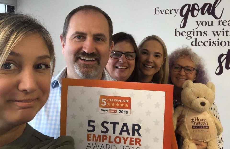 Some of the team celebrating the 5 Star Employer Award