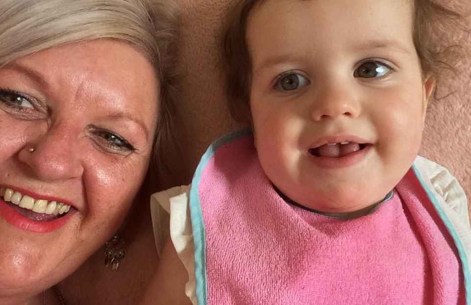 Smiley Jo with her Granddaughter