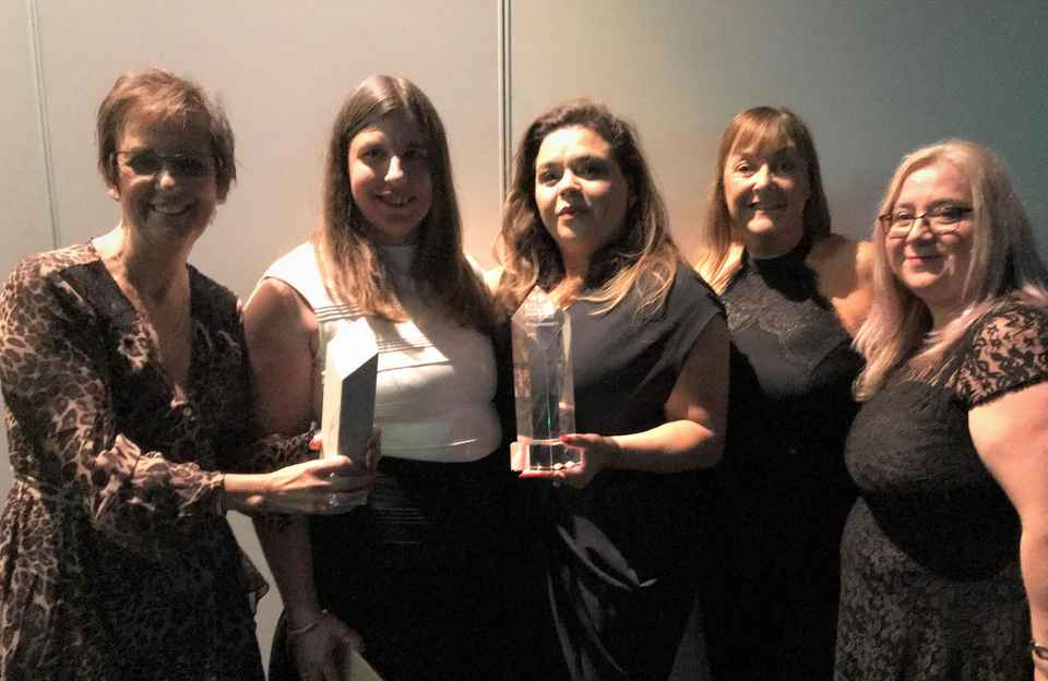 East Cheshire Team receives two awards