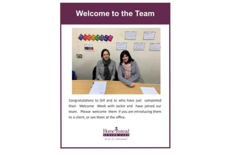 Welcome to the Home Instead Senior Care Team - Gill and Jo