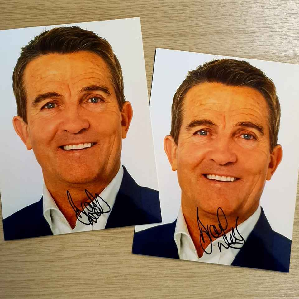 Bradley Walsh Autograph Home Instead Stoke Newcastle