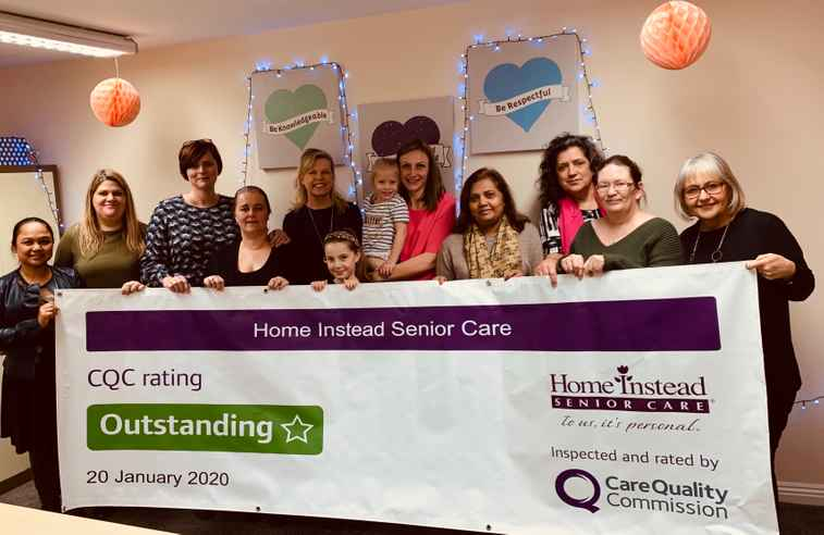 Home Instead Windsor team with CQC outstanding sign