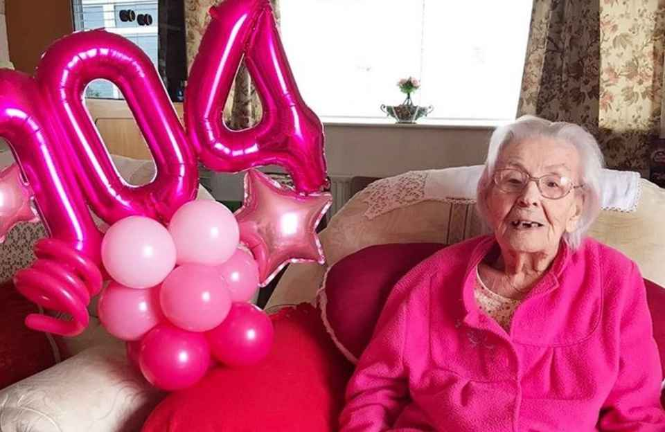 104 year old Home Instead Northwich client on her birthday.