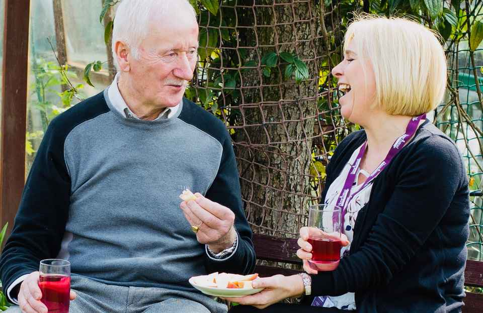 Client and CAREGiver eating and drinking