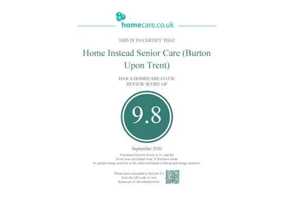Top Homecare Review for Home Instead Senior Care Burton