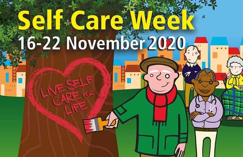 NHS Self Care Week 2020 Cartoon Image