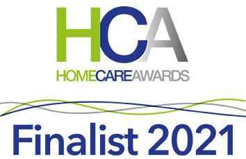 Home Care Awards Finalist 2021 Logo for Home Instead