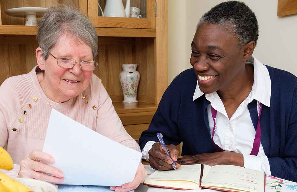 Photo of CAREGiver with Client