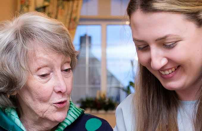 photo of client with caregiver